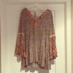 Hippie mini babydoll dress